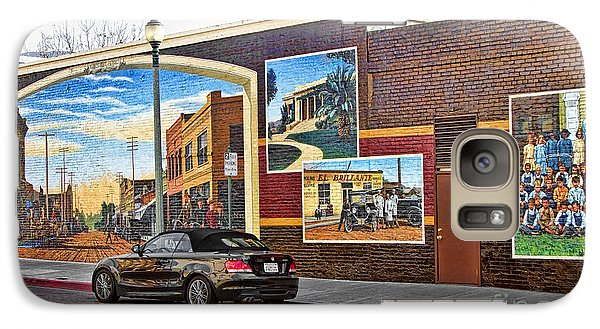 Galaxy Case featuring the photograph Old Town Santa Paula Mural by Jason Abando