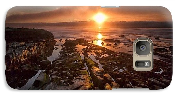 Galaxy S7 Case - Long Exposure Sunset In La Jolla by Larry Marshall