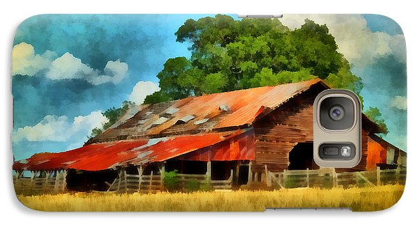 Galaxy Case featuring the painting Long Road Barn by Lynne Jenkins