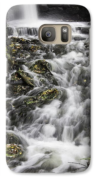 Galaxy Case featuring the photograph Longfellow Grist Mill Waterfall by Betty Denise