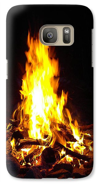 Galaxy Case featuring the photograph Look Into The Fire by Cheryl Perin