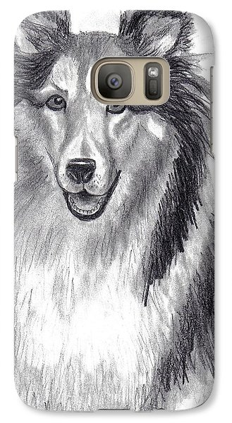 Galaxy Case featuring the drawing Looks Like Lassie by Julie Brugh Riffey