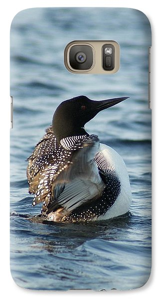Galaxy Case featuring the photograph Loon Dance 1 by Steven Clipperton