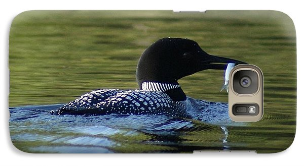 Galaxy Case featuring the photograph Loon With Minnow by Steven Clipperton