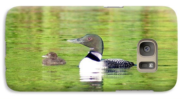 Galaxy Case featuring the photograph Loons Big And Small by Steven Clipperton