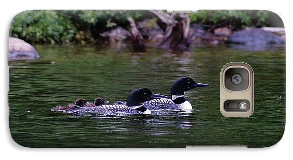 Galaxy Case featuring the photograph Loons With Twins 2 by Steven Clipperton