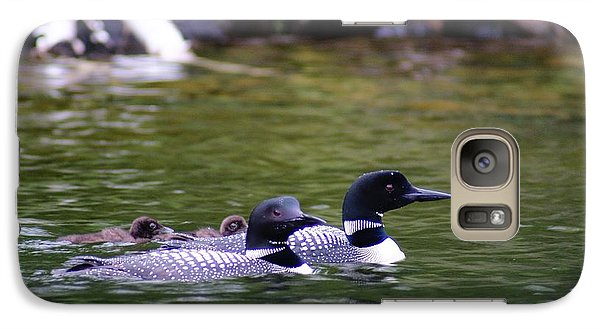 Galaxy Case featuring the photograph Loons With Twins 4 by Steven Clipperton
