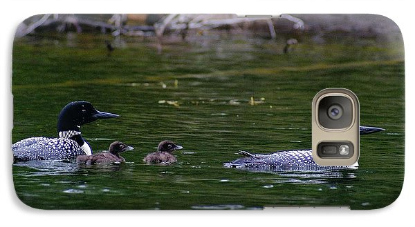 Galaxy Case featuring the photograph Loons With Twins by Steven Clipperton