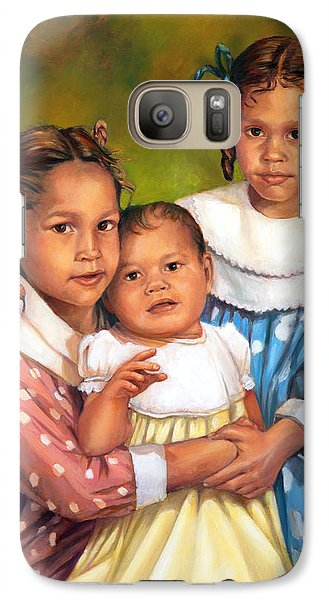 Galaxy Case featuring the painting Loretta And Her Sisters by Nancy Tilles