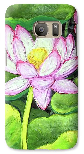 Galaxy Case featuring the painting Lotus 1 by Inese Poga