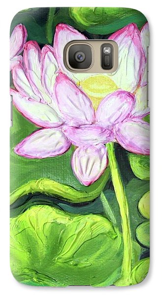 Galaxy Case featuring the painting Lotus 2 by Inese Poga