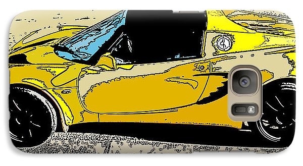 Galaxy Case featuring the photograph Lotus Elise Side Study by Samuel Sheats