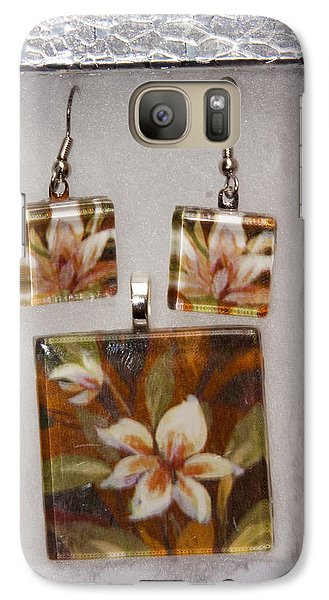 Galaxy Case featuring the jewelry Lotus Flower Pendant And Earring Set by Darleen Stry