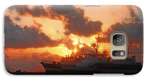 Galaxy Case featuring the photograph Louisiana Sunset In Port Fourchon by Luana K Perez