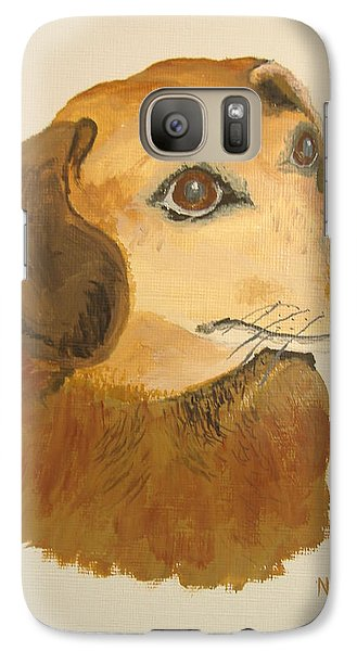 Galaxy Case featuring the painting Lovable Dachshund by Norm Starks