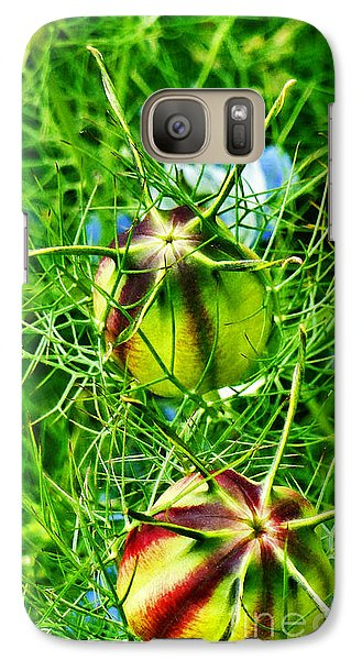 Galaxy Case featuring the photograph Love In A Mist by Steve Taylor