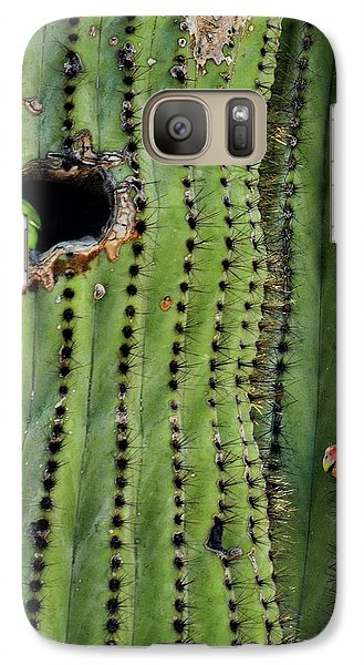 Lovebirds And The Saguaro  Galaxy Case by Saija  Lehtonen