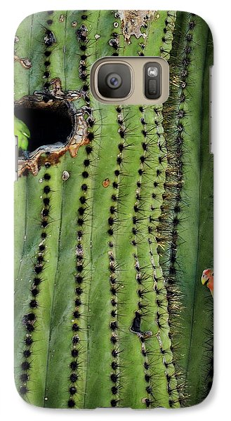 Lovebirds And The Saguaro  Galaxy S7 Case