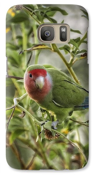 Lovely Little Lovebird Galaxy Case by Saija  Lehtonen