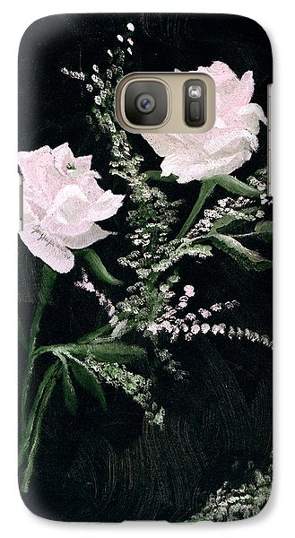 Galaxy Case featuring the painting Lover's Dance by Joy Braverman
