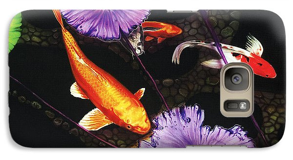 Galaxy Case featuring the painting Lunch Time by Dan Menta