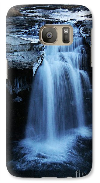 Galaxy Case featuring the photograph Lundbreck Falls by Alyce Taylor