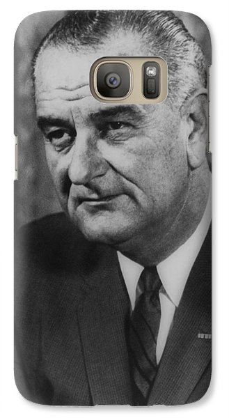 Galaxy Case featuring the photograph Lyndon B Johnson by International  Images