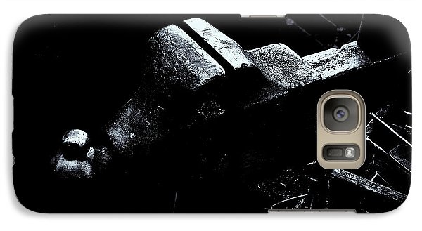 Galaxy Case featuring the photograph Machine Vise by Tom Singleton