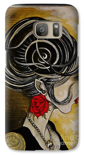 Galaxy Case featuring the painting Madame D. Eternal's Dance by Sandro Ramani