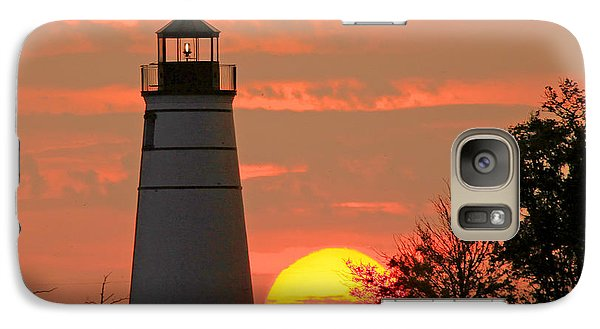 Galaxy Case featuring the photograph Madisonville Lighthouse Sunset by Luana K Perez