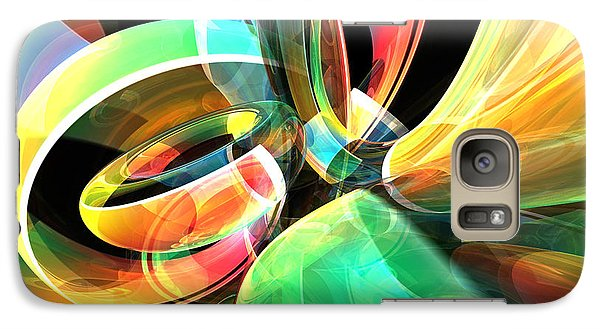 Galaxy Case featuring the digital art Magic Rings by Phil Perkins