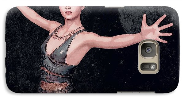 Galaxy Case featuring the painting Magic Weaver by Maynard Ellis