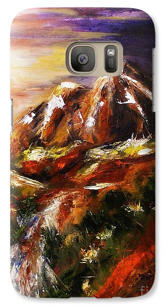 Galaxy Case featuring the painting Magical Morn by Karen  Ferrand Carroll