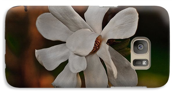 Galaxy Case featuring the photograph Magnolia Bloom by Barbara McMahon