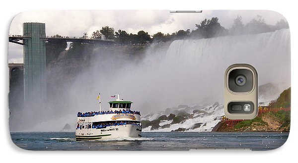 Galaxy Case featuring the photograph Maid Of The Mist At Niagara Falls by Mark J Seefeldt