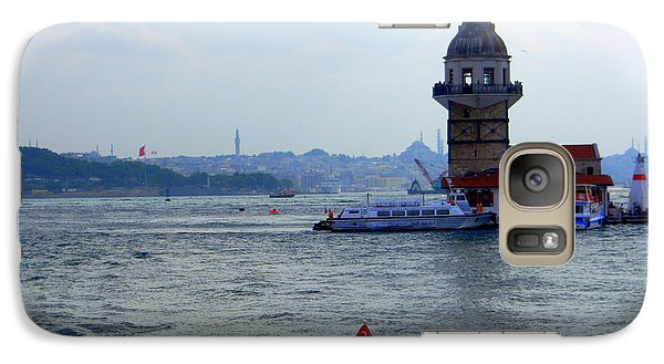 Galaxy Case featuring the photograph Maidens Tower Istanbul by Lou Ann Bagnall