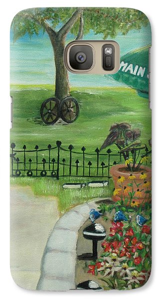 Galaxy Case featuring the painting Main Street by Bernadette Krupa