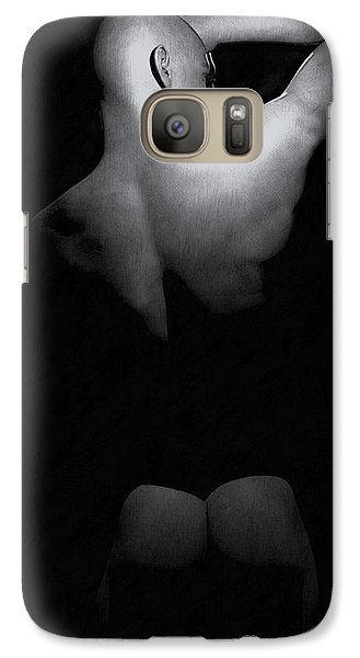 Galaxy Case featuring the digital art Male Back by Maynard Ellis