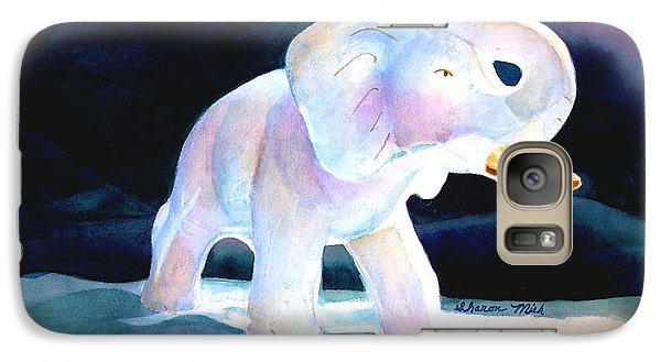 Galaxy Case featuring the painting Mama's White Elephant by Sharon Mick