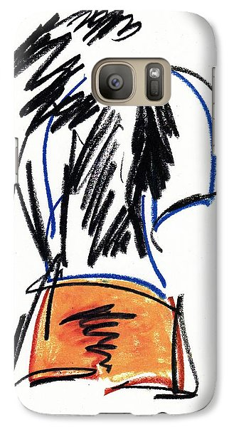 Galaxy Case featuring the drawing Man In Shorts  by Patrick Morgan