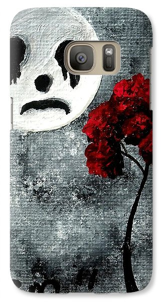 Galaxy Case featuring the painting Man In The Moon by Oddball Art Co by Lizzy Love