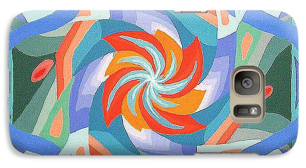 Galaxy Case featuring the painting Mandala by Rachel Hames