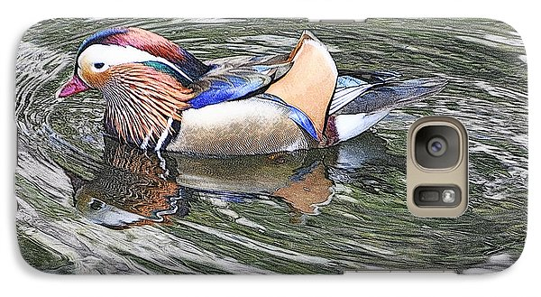 Galaxy Case featuring the photograph Mandarin Duck  by Lydia Holly
