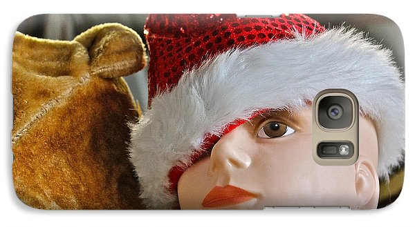 Galaxy Case featuring the photograph Manniquin Santa 2 by Bill Owen