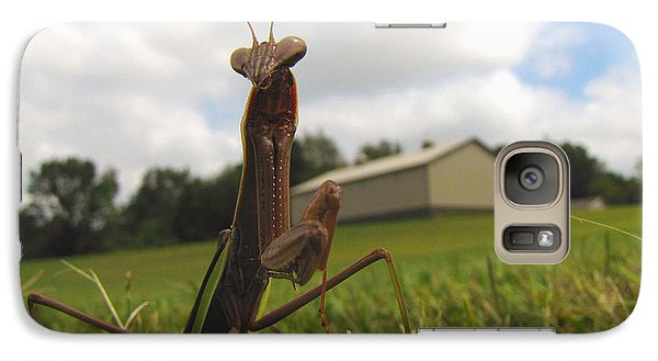Galaxy Case featuring the photograph Mantis by John Crothers