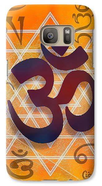 Galaxy Case featuring the digital art Many Faces Of Om by Ginny Schmidt