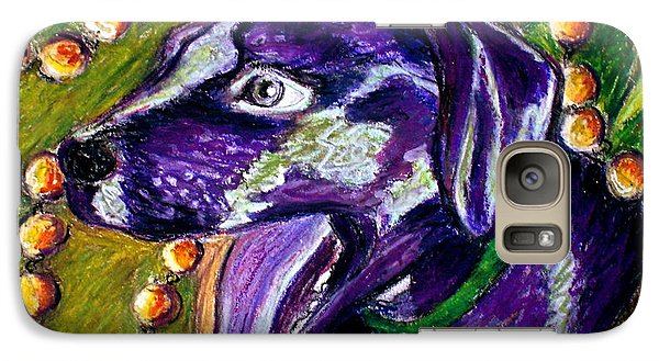 Galaxy Case featuring the painting Mardi Dog by D Renee Wilson