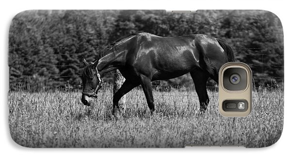 Galaxy Case featuring the photograph Mare In Field by Davandra Cribbie