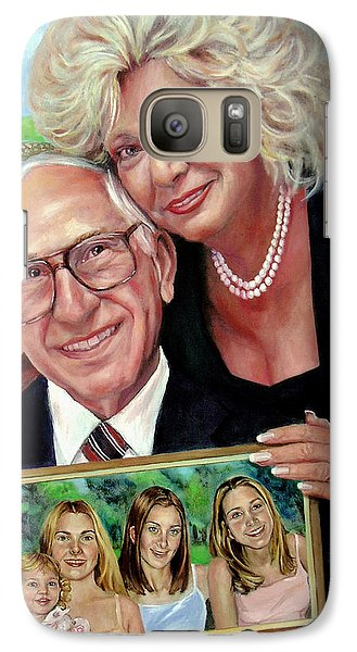 Galaxy Case featuring the painting Marilyn's Inlaws And Their Grandchildren by Nancy Tilles