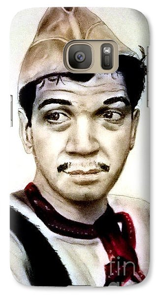 Galaxy Case featuring the pastel Mario Moreno As Cantinflas In El Bombero Atomico  by Jim Fitzpatrick